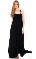 Elan International Maxi Halter Dress in Black