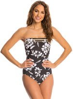 Miraclesuit Awesome Blossom Avanti Underwire Bandeau One Piece Swimsuit 8137953