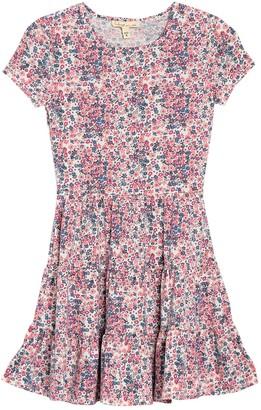BeBop Floral Printed Tiered Dress