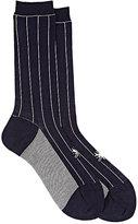 Antipast Women's Striped Mid-Calf Socks-NAVY