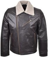 Nudie Jeans Greger Leather Jacket Brown