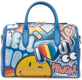Anya Hindmarch Vere Barrel Sticker Satchel Bag, Multi