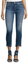7 For All Mankind Roxanne Ankle Jeans w/ Asymmetric Released Hem, Indigo