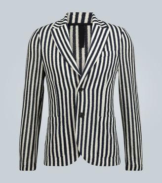 Harris Wharf London Striped Frise blazer