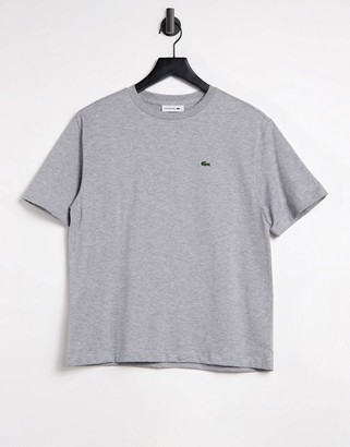 Lacoste crew cotton tee in gray