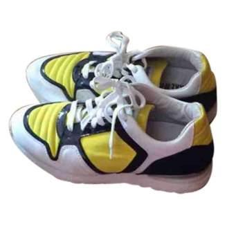 Dirk Bikkembergs \N Yellow Rubber Trainers