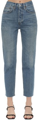 RE/DONE High Rise Straight Leg Denim Jeans