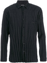 Issey Miyake pleated shirt - men - Cotton/Polyester - 3