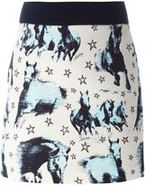 Fausto Puglisi horse print mini skirt - women - Silk/Acetate/Viscose - 38