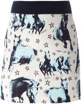 Fausto Puglisi horse print mini skirt