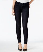 GUESS 1981 Button-Front Rinse Wash Skinny Jeans