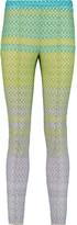 Missoni Metallic crochet-knit slim-leg pants