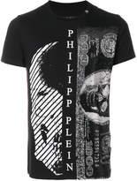 Philipp Plein skull and money print T-shirt