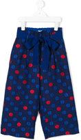 Simonetta polka dot trousers - kids - Cotton/Polyester/Acetate/Cupro - 4 yrs