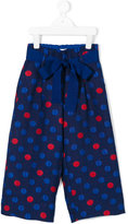 Simonetta polka dot trousers