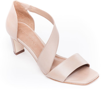 Bernardo Camille Leather Crossover Strap Sandals