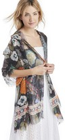 Sole Society Ornate Floral Print Scarf