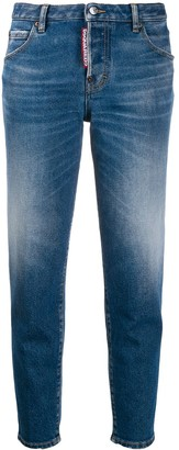 DSQUARED2 Faded Cropped Jeans