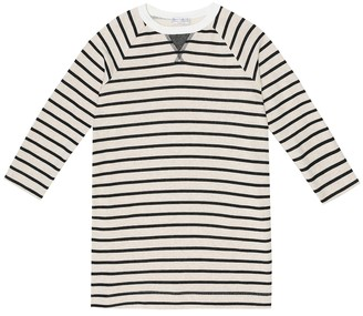 BRUNELLO CUCINELLI KIDS Striped cotton-jersey dress