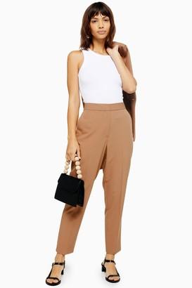 Topshop Camel Suit Trousers