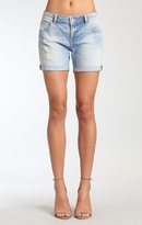 Mavi Jeans Pixie Shorts In Lt Ripped&crashed Vintage