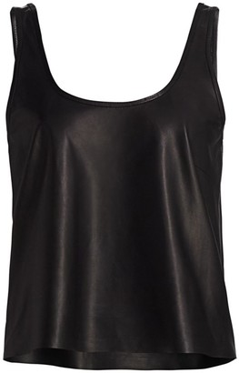 LAMARQUE Leather Tank Top