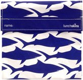 LunchSkins Reusable Sandwich Bag - Navy Shark