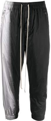 Rick Owens two-tone track trousers