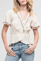 Blu Pepper Embroidered Woven Top