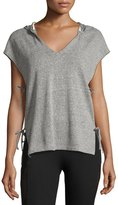 Lanston Side-Tie Hooded Vest, Gray