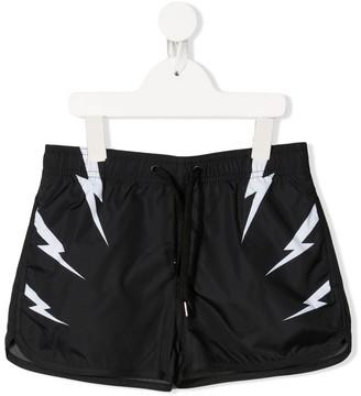 Neil Barrett Kids Lightning Swim Shorts