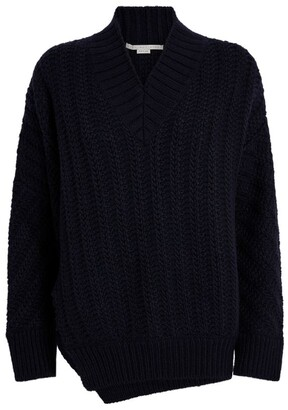 Stella McCartney V-Neck Herringbone Sweater