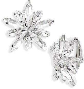 CRISTABELLE Navette Burst Clip-On Earrings