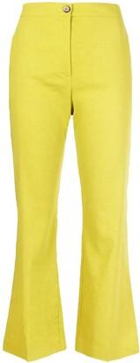 Pinko Flared Linen-Blend Trousers