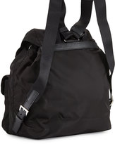 Prada Vela Large Two-Pocket Backpack, Black (Nero)