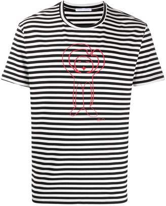 Societe Anonyme striped graphic print T-shirt