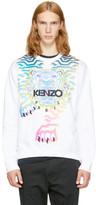 Kenzo White Limited Edition Rainbow Tiger Sweatshirt