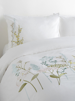 Melange Home Spring Blossom Embroidered Duvet Set