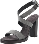 Brunello Cucinelli Monili Criss-Cross Ankle Sandal