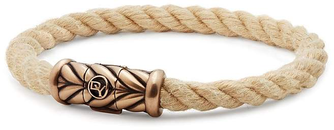 David Yurman Maritime Rope Bracelet with Bronze, 8mm
