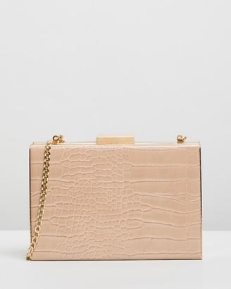Olga Berg Caterina Croc Framed Shoulder Bag