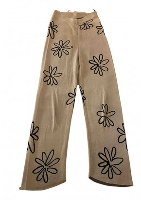 Paloma Wool Beige Viscose Trousers