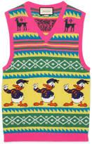 Gucci Donald Duck intarsia wool waistcoat