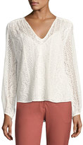 Theory Bernetta Colemore Silk Lace Top