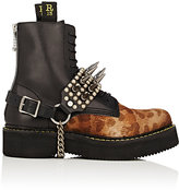 R 13 Women's Studded Leather Harness Boot Straps-BLACK