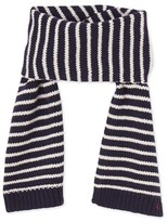 Petit Bateau Boys striped knitted scarf