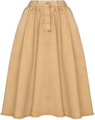 Golden Goose Flared Denim Skirt