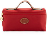 Longchamp Le Pliage Cosmetic Case, Deep Red