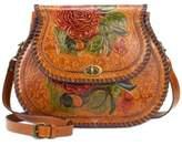 Patricia Nash Arezzo Painted Medium Saddle Bag