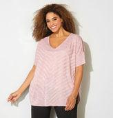 Avenue Shimmer Mitered Pullover